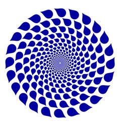 abstract circle logo blue logotype template vector image