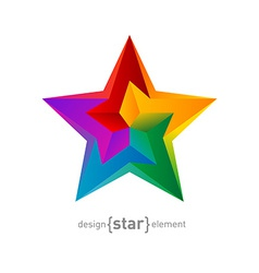 abstract Impossible colorful star design element vector image