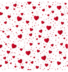 abstract seamless heart pattern background paper vector image