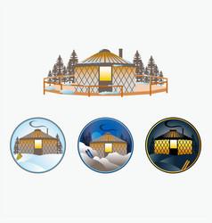 Adventure yurts vector
