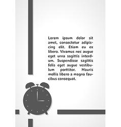 Alarm clock dark infographics vector