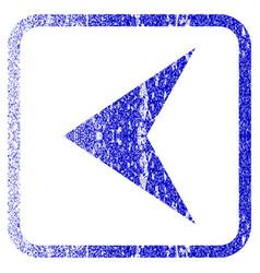 Arrowhead left framed textured icon vector