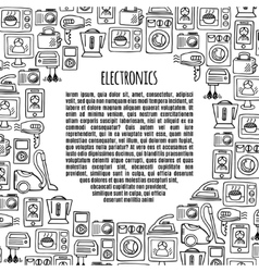 Banner electronics design vector image