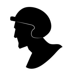 baseball player pictograph vector image