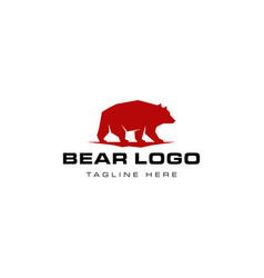 bear logo design vector image