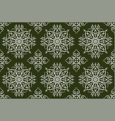 beautiful vintage floral seamless pattern hand vector image