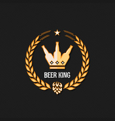 Beer bottle concept logo background vector