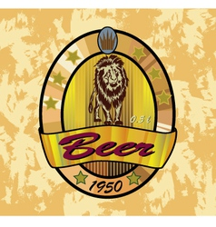 beer lion banners on topic with beer vector image