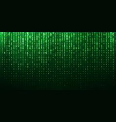 binary matrix 1 0 bits green abstract background vector image