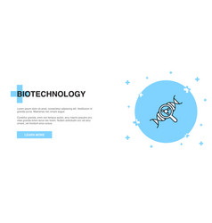 Biotechnology line icon simple icon banner vector
