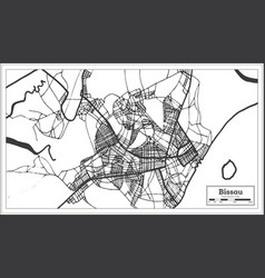 bissau republic of guinea-bissau city map vector image