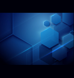 blue abstract technology digital hi tech concept vector image