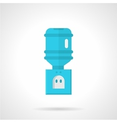 Blue electric cooler flat icon vector