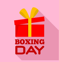 boxing day sale logo set flat style vector image