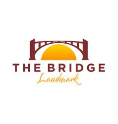 Bridge logo - park outdoor logo silhouette simple vector