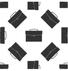 briefcase seamless pattern on white background vector image
