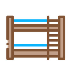 bunk bed icon outline vector image