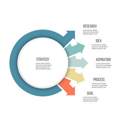 Business infographics organization chart with 5 vector