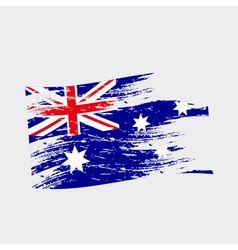 color australia national flag grunge style eps10 vector image