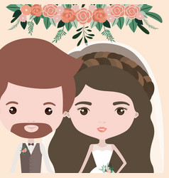 Color background with half body couple of just vector