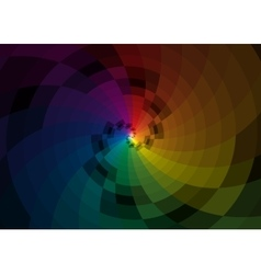 Color spiral background vector