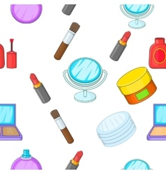 Cosmetics pattern cartoon style vector image