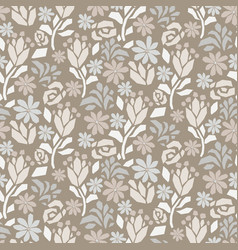 cutout paper flower gray beige seamless vector image