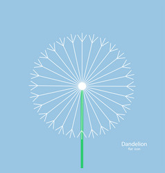 dandelion - icon summer flower white dandelion vector image