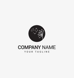 dandelion logo template vector image