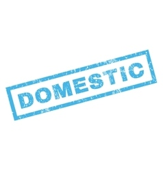 Domestic Rubber Stamp vector