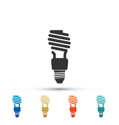 energy saving light bulb icon on white background vector image