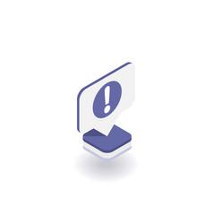 exclamation mark icon symbol vector image