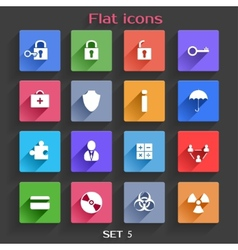 Flat Application Icons Set 5 vector