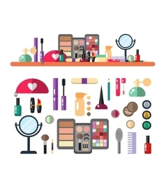 flat make up cosmetic vector image