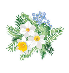 Flower bouquet spring nature background floral vector