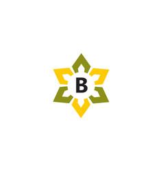 Flower infinity letter b vector