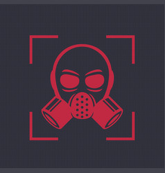 gas mask respirator icon biohazard symbol vector image