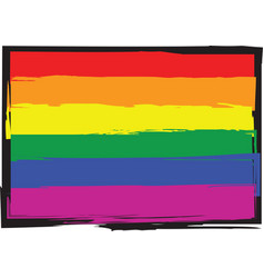 Gay pride flag vector