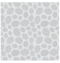 gray easter seamless pattern with decorated vector image