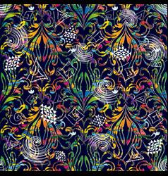 greek key meander chalk seamless pattern vector image