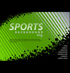 green-black background in sport design style vector image