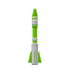 Green missile on a white vector