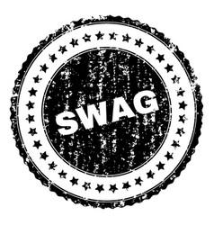 Grunge textured swag stamp seal vector