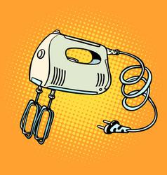 hand mixer kitchen equipment vector image