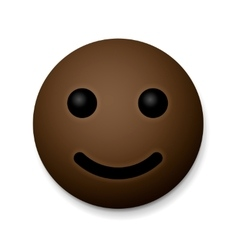 Happy emoticon emoji african american vector image