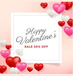 happy valentines day background design wallpaper vector image