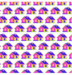 house seamless pattern 3d style vector image