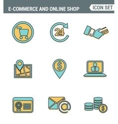 Icons line set premium quality of e-commerce vector image
