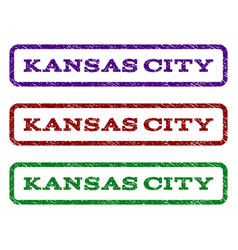 Kansas city watermark stamp vector