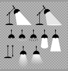 lamp prefabricated elements adjustable positions vector image